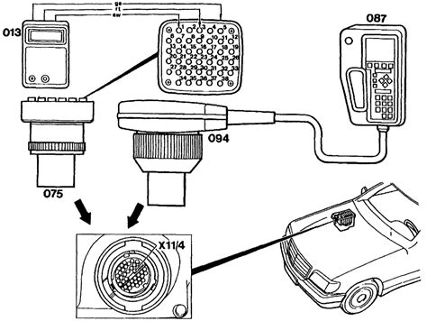 where is the obd code reader access on a 1993 mercedes 300se