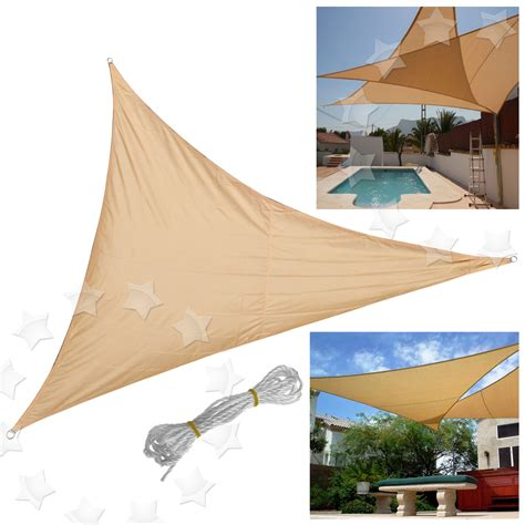 sail shaped awnings sun shade sail patio garden awning sunscreen canopy 98 uv