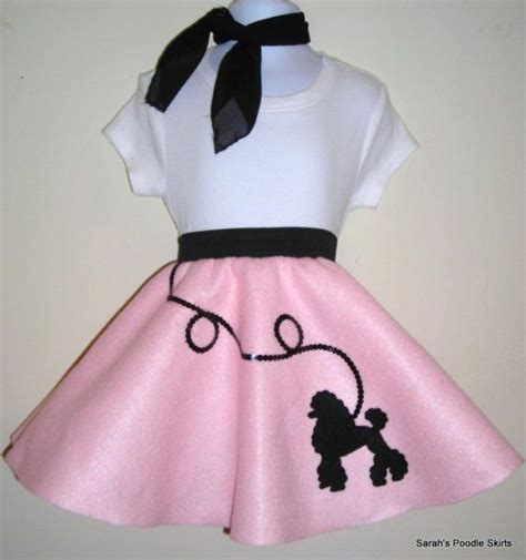 simple pattern for poodle skirt cute baby toddler 50 s style baby pink poodle skirt size