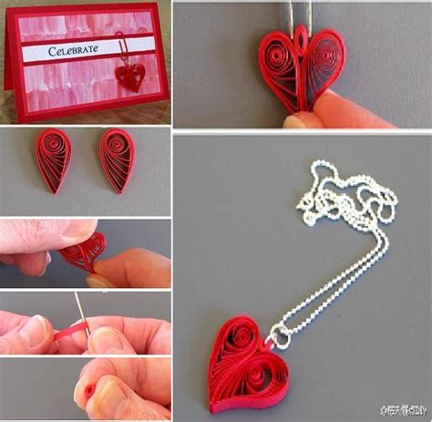paper quilling tutorial step by step instructions diy quilling heart shaped decoration