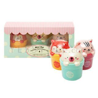 face shop mini pet perfume hand cream set  items