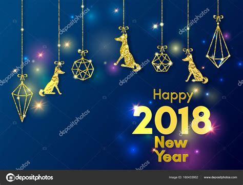 new year 2018 moe a 241 o nuevo chino 2018 concepto perro amarillo oro
