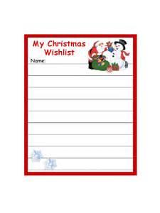 Wish List Template Pdf by Doc 8591100 Wish List Template Free