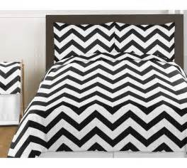 black white zigzag chevron size bed in bag comforter