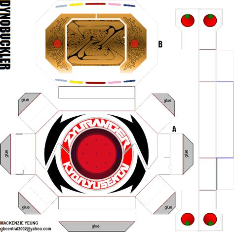How To Make A Paper Power Ranger Morpher - mighty morphine power rangers morpher paper crafts