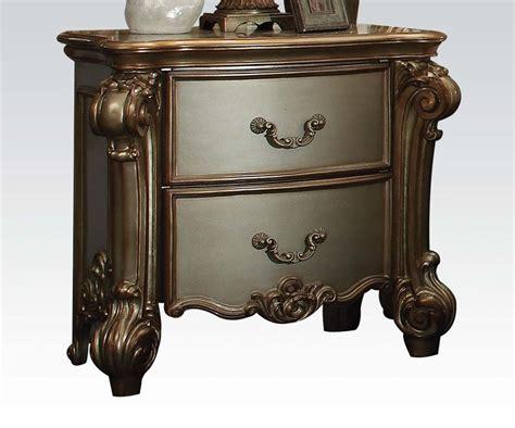 vendome bedroom set 4 pc gold patina vendome bedroom set by acme furniture
