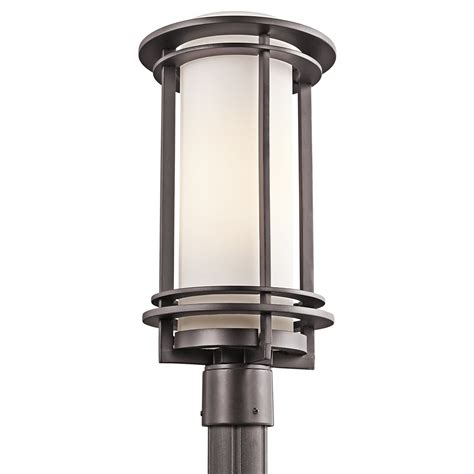 outdoor post lights contemporary kichler lighting 49349az pacific edge modern