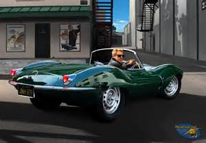 Steve Mcqueen Jaguar Steve Mcqueen In His Jaguar Xkss Painting By Cole Flickr