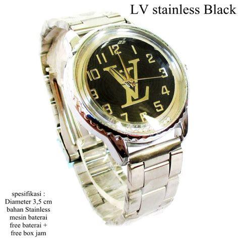 Jam Tangan Lv jual jam tangan lv stainless black set wishope pedia