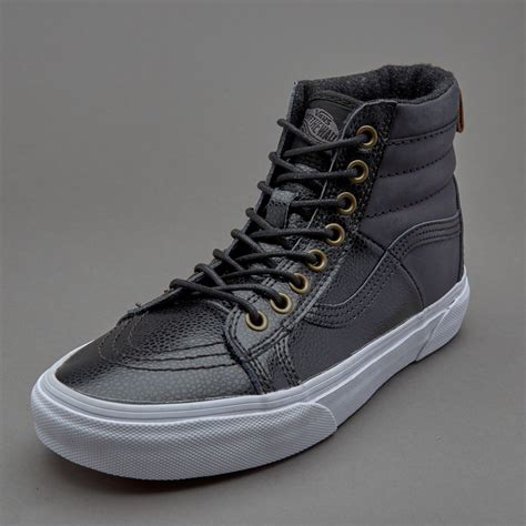 Sepatu Sneaker Leather sepatu sneakers vans womens sk8 hi 46 mte pebble leather black
