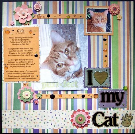 scrapbook layout cat cat page dog and cat scrapbooking layouts pinterest