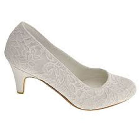 Wedding Shoes Ivory Lace by Ivory Lace Rounded Toe Court Wedding Shoes Wedding Shoes