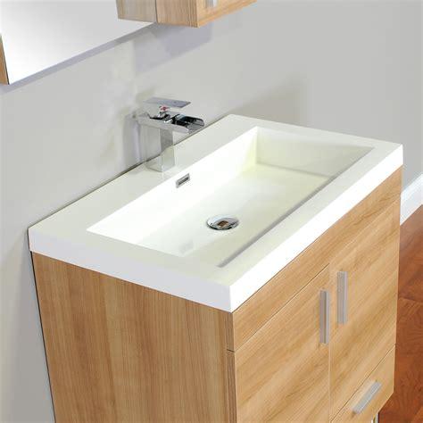 ripley 30 in single modern bathroom vanity in light oak