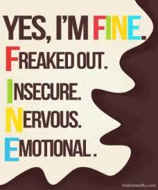 i m fine