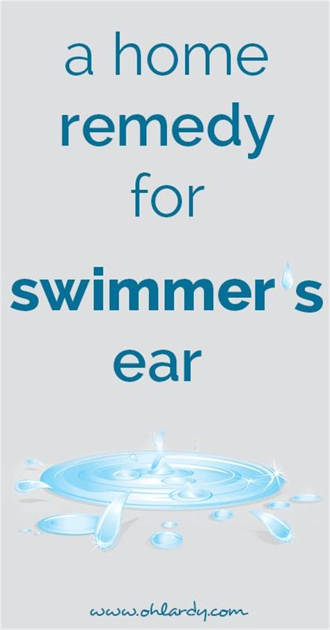 swimmer s ear remedy ohlardy health