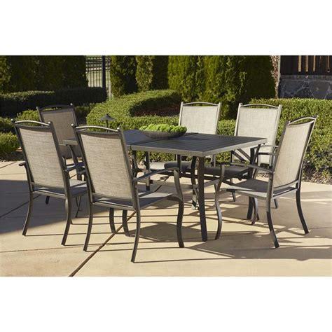 Cosco Outdoor Serene Ridge 7 Piece Aluminum Patio Dining 7 Outdoor Patio Dining Set