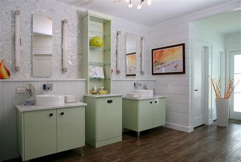 green bathroom cabinets 20 refreshing bathrooms with a splash of green