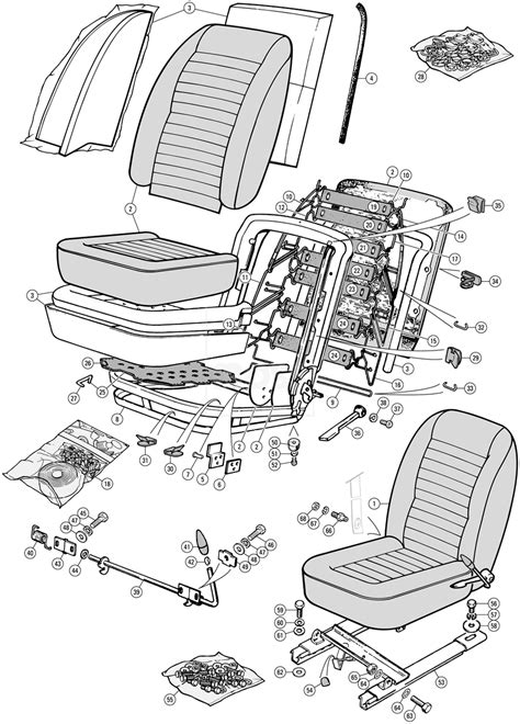 Seat Assembly & Fittings - TR6 (c) CP50001 To CP77716