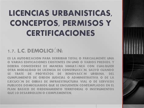 ley 10430 licencias y permisos licencias urbanisticas conceptos permisos y