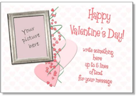 bad valentines cards template s photo card templates add your picture to
