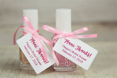 thank you for bridal shower gift sle thanks tags bridal shower thank you gifts baby shower favors spa nail