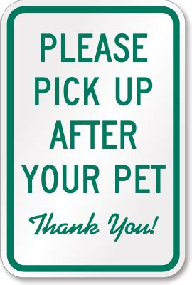 up after your signs up after your pet sign sku k 1195