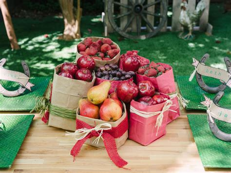 To Market Centerpiece by How To Host A Backyard Barbecue Wedding Shower