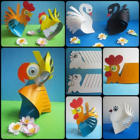 Paper Animal Crafts - diy paper animal crafts