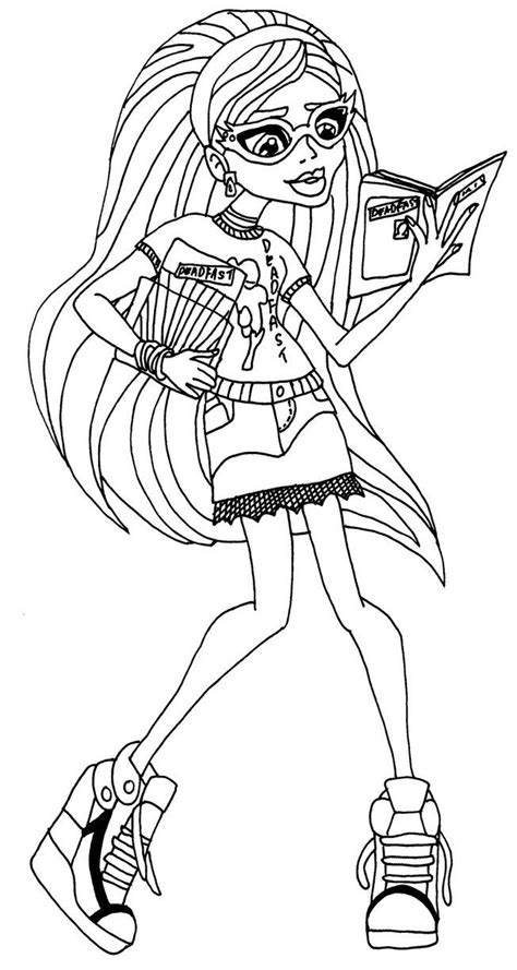 monster high coloring pages ghoulia yelps ghoulia yelps monster high coloring page pages to color