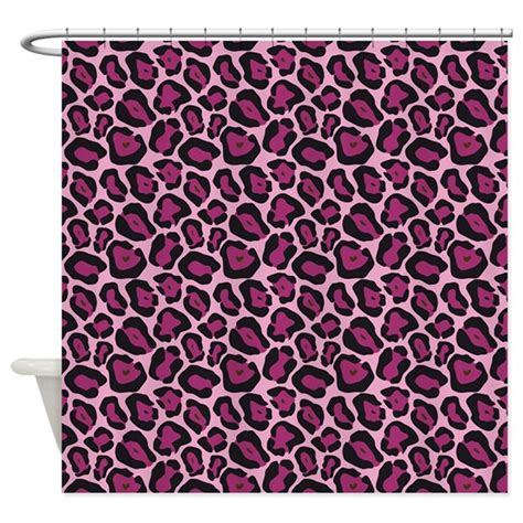 pink cheetah print curtains hot pink leopard print shower curtain by