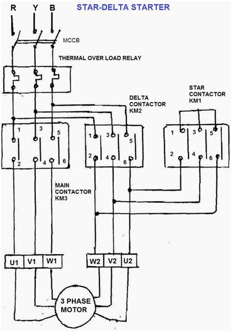 wye start delta run motor wiring diagram wye delta motor