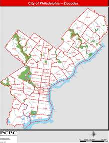 Philly Zip Code Map philadelphia map with zip codes