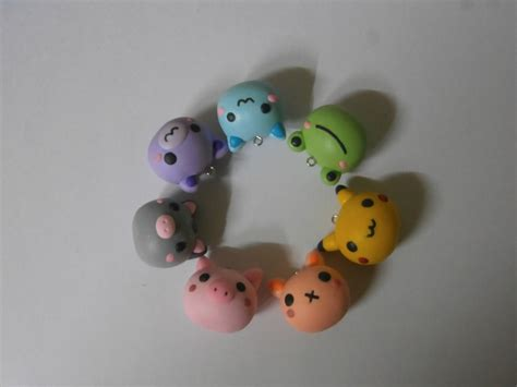 colourful polymer clay charms by dsam4 on deviantart