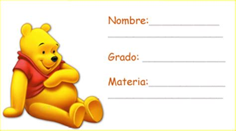 imagenes de winnie pooh en la escuela etiquetas escolares art 237 culos familia beb 233 s y ni 241 os