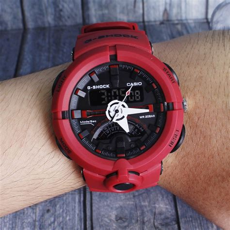 Jam Tangan Pria G Shock Cs Ga 700 Dualtime Anti Air Rubber Muhammad Ra jual casio g shock ga700 ga710 merah jam tangan pria dual time digital analog