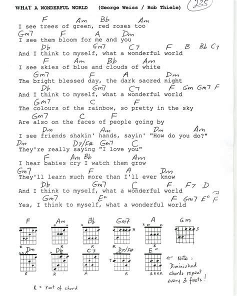 printable lyrics what a wonderful world what a wonderful world lyrics and chords mightyturk
