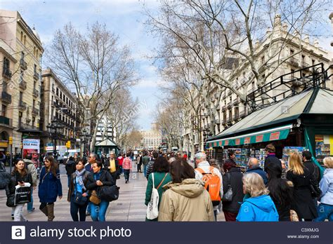 barcelona in winter la rambla las ramblas in early spring late winter