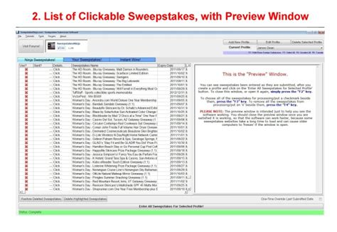 Sweepstake Software - sweepstakes ninja business management software for pc