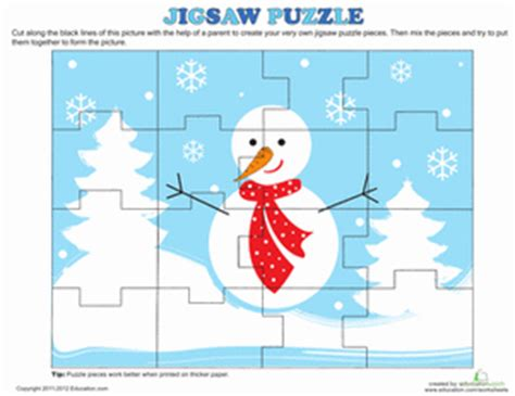 printable christmas jigsaw puzzles christmas puzzle worksheet education com