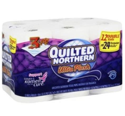Quilted Northern 12 Pack by Wow Quilted Northern Bath Tissue 12 Pack Only 1 50 Reg
