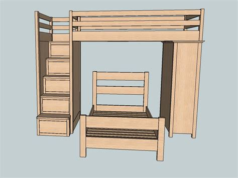 sketchup furniture plans bunk bed plans sketchup pdf plans shaker style furniture