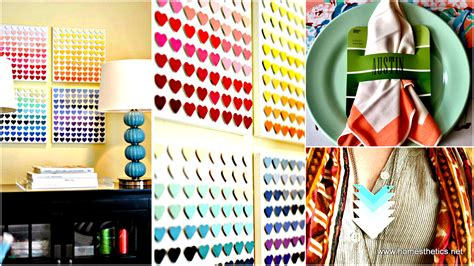 diy projects fun 25 creative paint chip diy projects