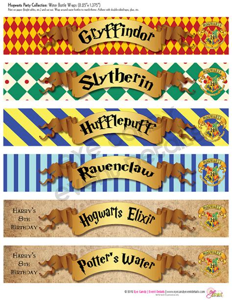 harry potter inspired hogwarts printable name tags harry potter inspired hogwarts printable party by
