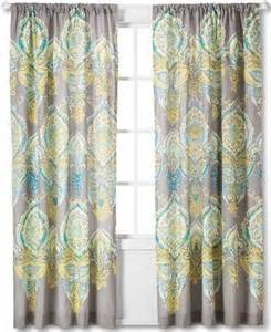 Gray Yellow Teal Curtains Mudhut Anila Window Curtain Panel Grey Yellow Teal 55 Quot X 84 Quot 1 Panel Ebay