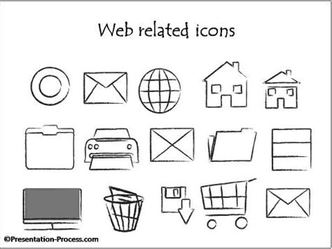 email flowchart symbol bonus powerpoint design elements