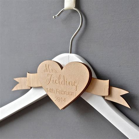 Wedding Dress Hanger by Personalised Engraved Wedding Dress Hanger By Clouds And