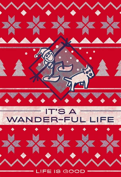 Life Is Good Its Ander Ful Life Christmas Card