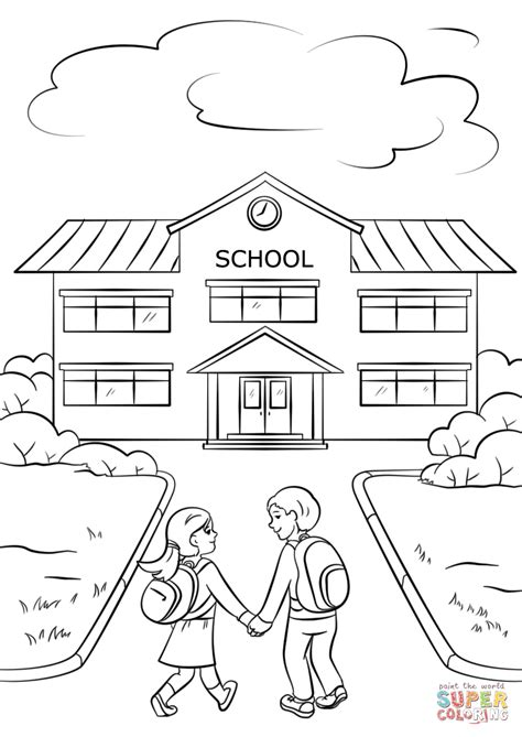 what color is a school child holding up report card with big f coloring page