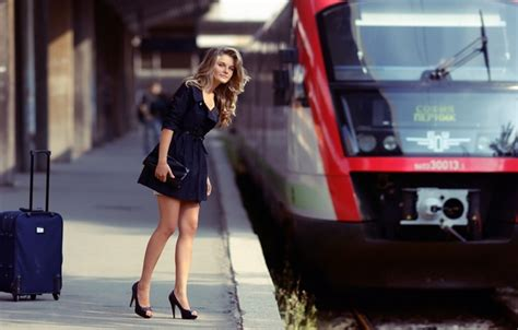 wallpaper girl train train blonde shoes platform