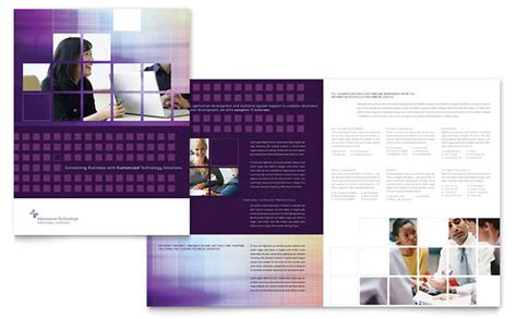 informational flyer template information technology consultants brochure template design